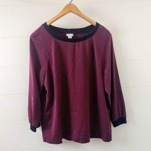 J. Crew Purple Factory Drapey Sweatshirt
